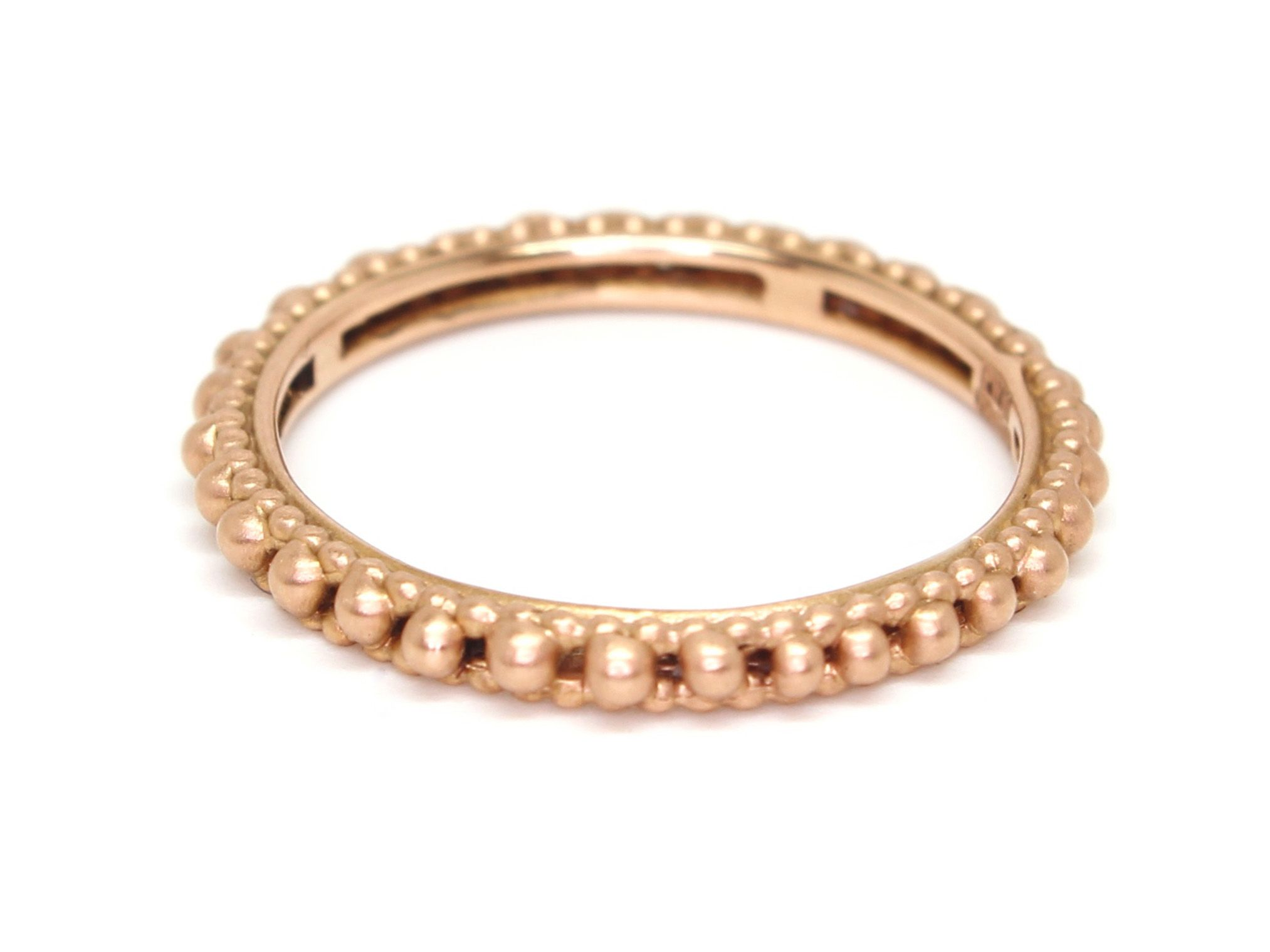18k Rose Gold Plain Rapunzel Ring Polly Wales jewelry