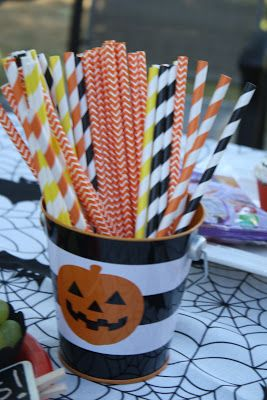 Shoppe 3130 party supplies helped make this Halloween party extra special and festive!  http://shoppe3130.com/