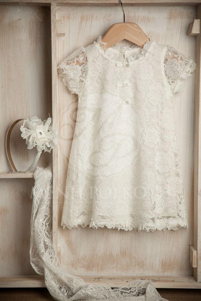 7cf378462dad Βαπτιστικά ρούχα για κορίτσι της Angel Wings δαντέλα Baby Baptism