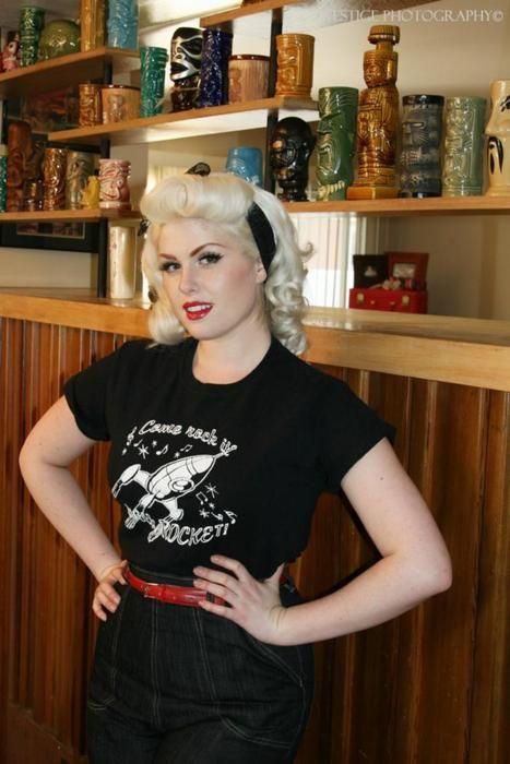 Bleach Blonde Retro Hair Pinup Rockabilly Psychobilly