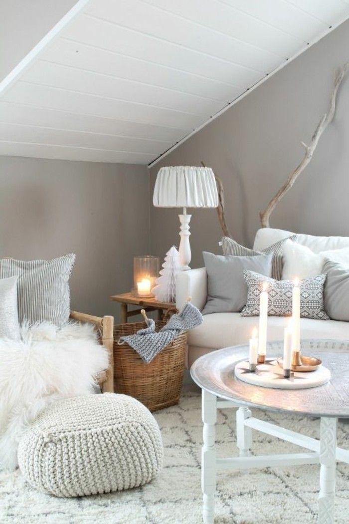 salon taupe et blanc salon sous pente meubles de salon