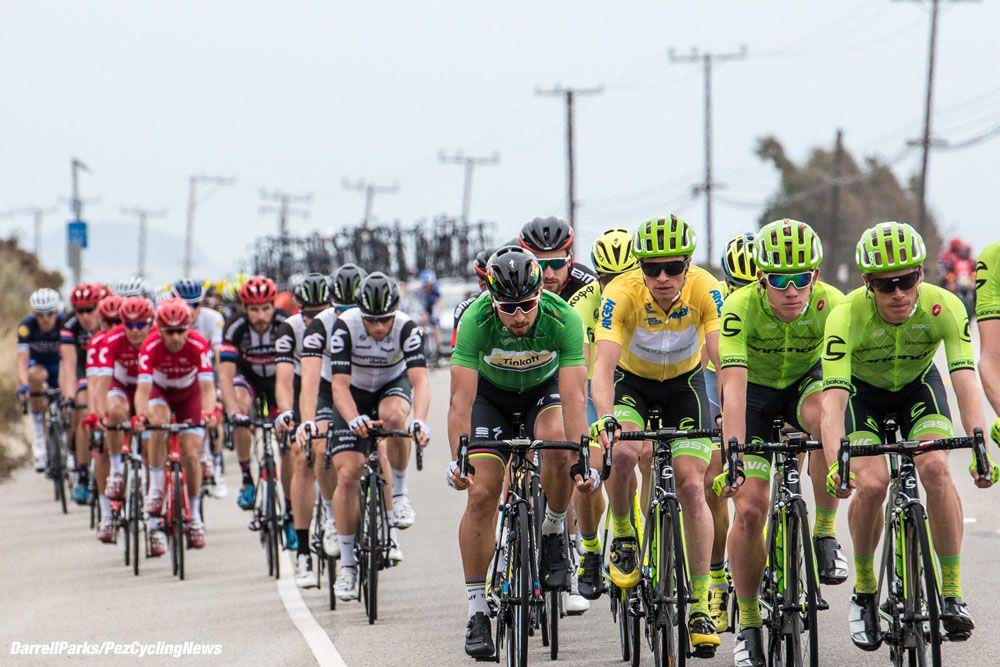 Peter Sagan in green jersey with Ben King (Photo: Media - PezCycling News)