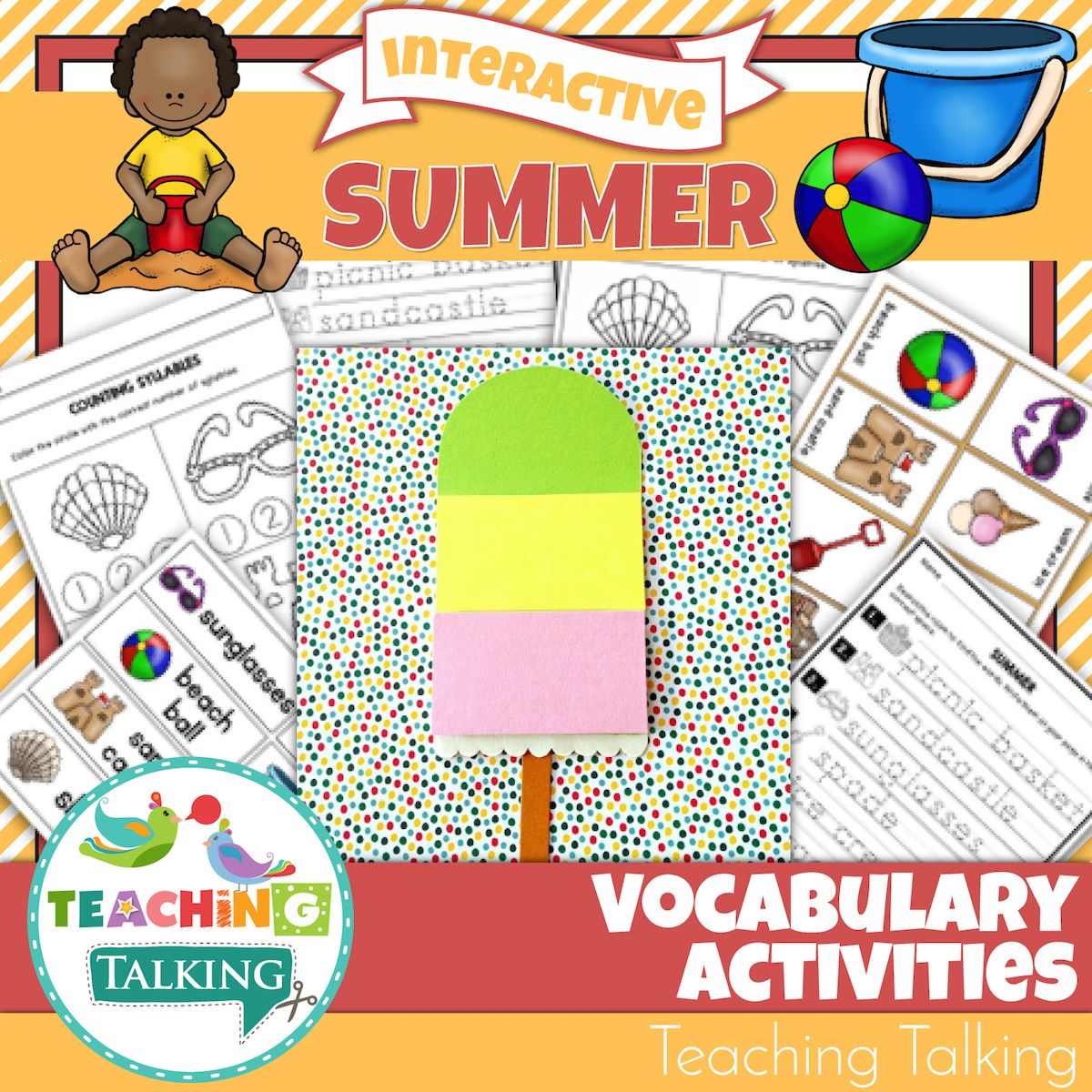 Summer Vocabulary Activities For Speech Therapy