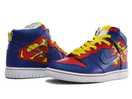 Nike Superman Shoes Dunk High Tops