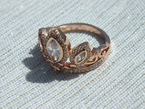 Rose Gold Tiara Rapunzel Ring