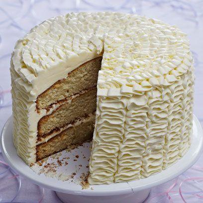 Triple Layer Vanilla Ruffle Cake Recipe Cake Recipes Best