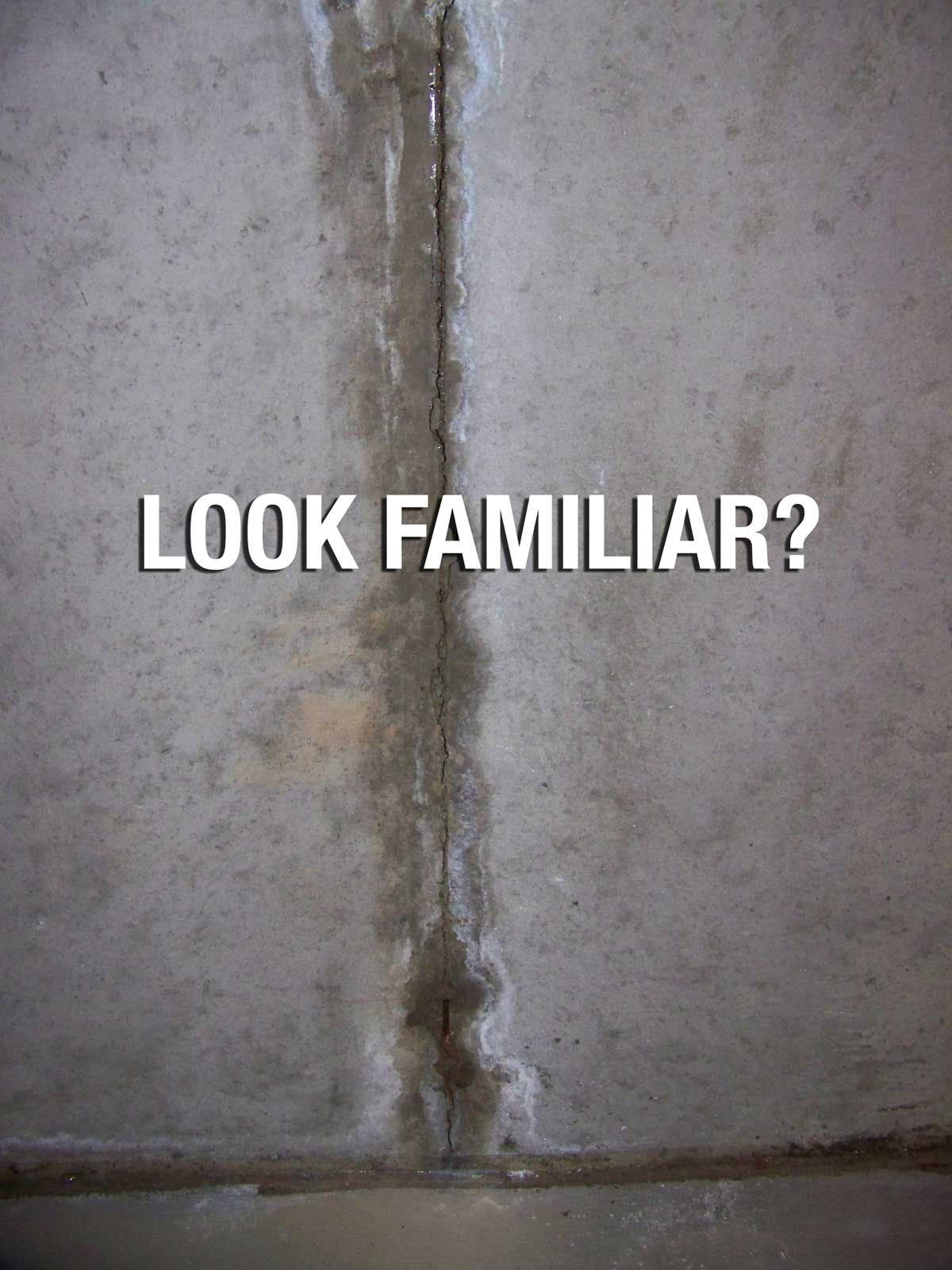 Problem Leaky Concrete Wall Seam Solution Fill The Entire
