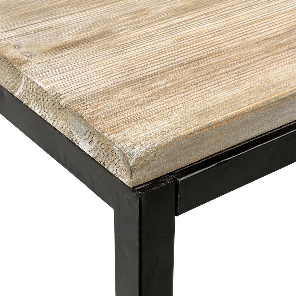 table manger indus 6 8 personnes en sapin massif et m tal l150 long island plateau table et. Black Bedroom Furniture Sets. Home Design Ideas