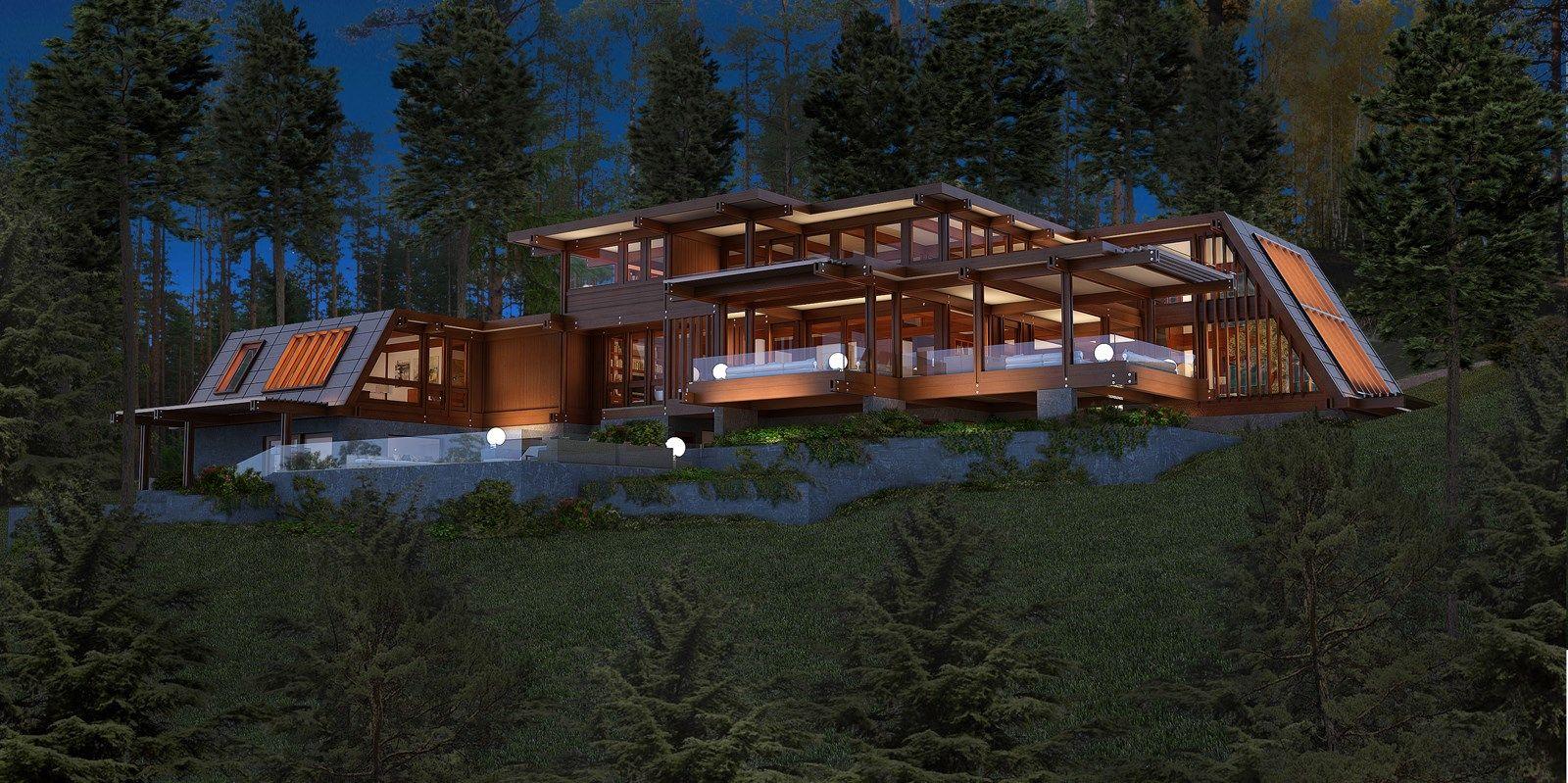 Case legno pagano pagano case in legno di lusso con ville for Ville di legno di lusso