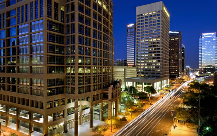 Download Wallpapers Phoenix Downtown Skyscrapers Modern