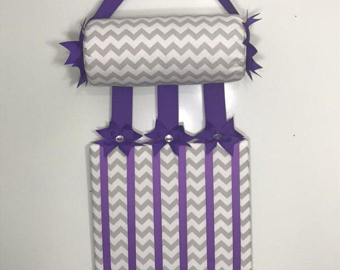 Headband Holder or head band holder hairbow organizer board Owl w/lavender Handmade holder combination