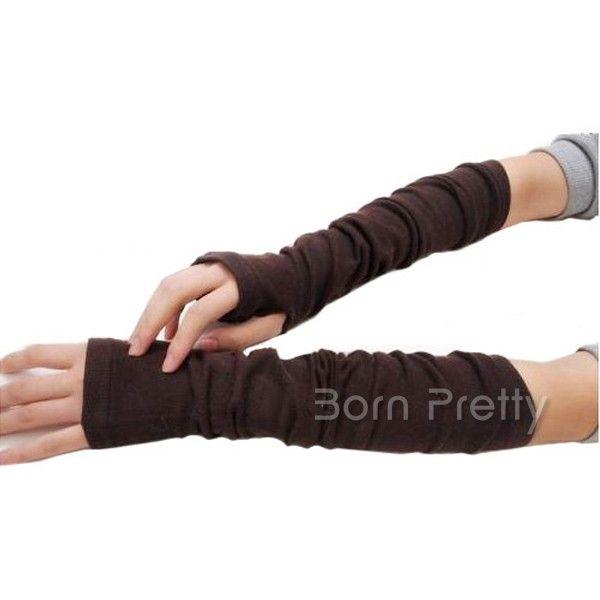 $ 5,79 um par bonito grossas luvas sem dedos quentes Cozy Knit Mitten - BornPrettyStore.com
