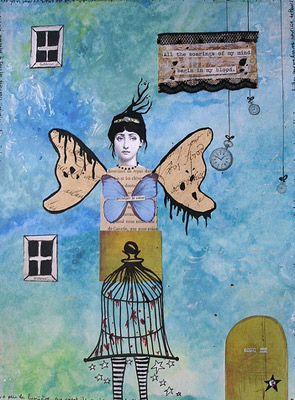 poesie-des-veines  collage by Helene deroubaix 2007