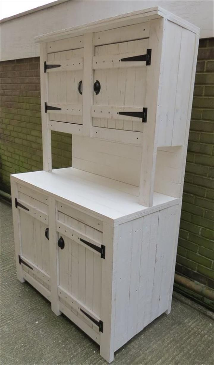 Recycled Pallet Kitchen Cabinet Unit More