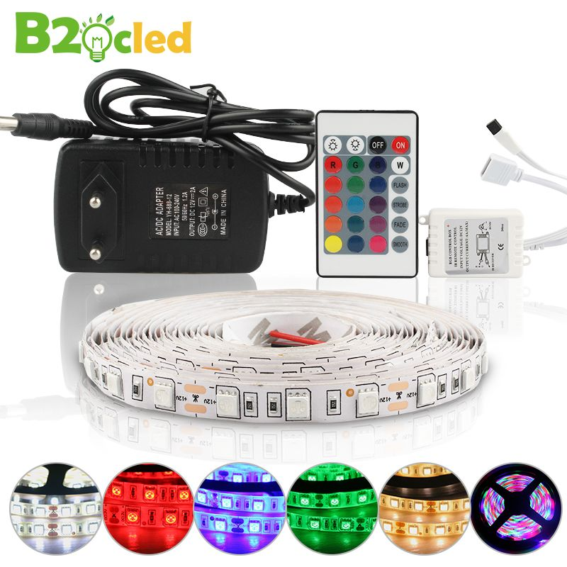 Led Strip 5m 5050 2835 Dc 12v 300 Led Rgb Strip Light Led Waterproof Flexible Led Light Tape Lamp Warm White Red Blue Green Led Stripes Led Streifen Led Licht
