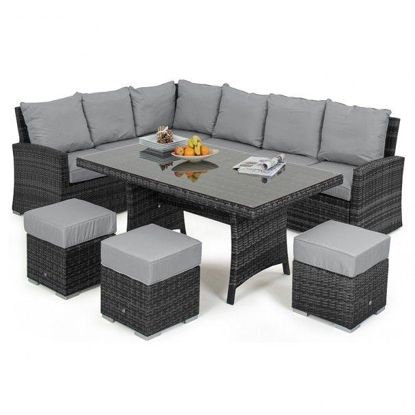 Best Maze Rattan Kingston Rattan Corner Sofa Dining Set 400 x 300