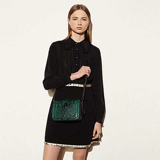 Page Crossbody in Snake-Embossed Leather - Alternate View A2