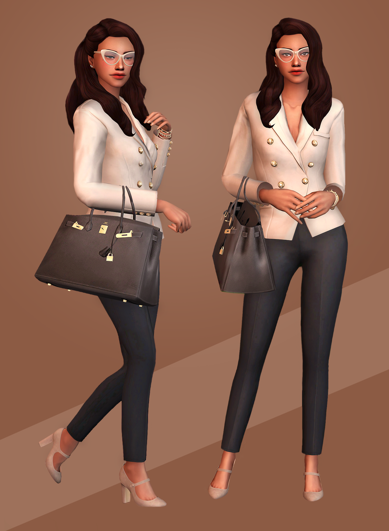 staywithsims 25 day lookbook challenge a day 2 business