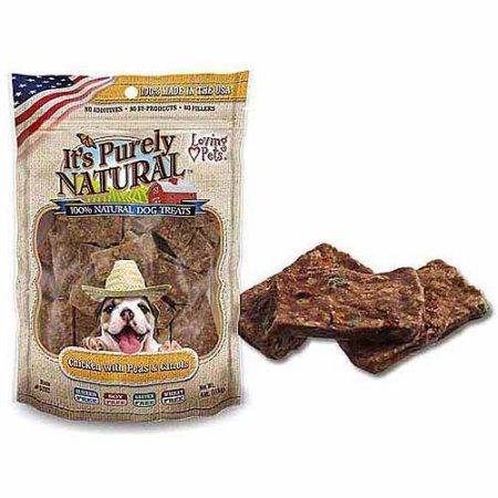 Loving Pets It's Purely Natural Chicken with Peas and Carrots Dog Treats, 4 Ounces, Multicolor