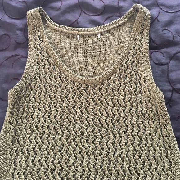 Tank Top Olive green. Worn once. No snags in material. Tops Tank Tops