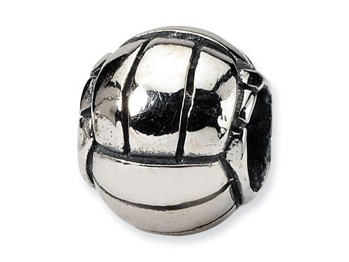$25.00 Reflections(tm) Sterling Silver Volleyball Bead / Charm crafted in 925 Sterling Silver . Dimensions: Width: 11.00 mm Length: 9.50 mm. Finejewelers Style Number: QRS1154.