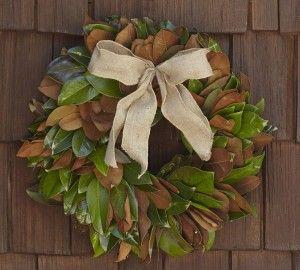 Pottery Barn Knock Off Magnolia Wreath Magnolia Wreath Wreaths Fall Wreaths