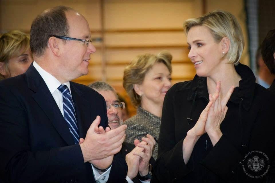 Prince Albert of Monaco and Princess Charlene of Monaco presided over the World Day of Sport for Development and Peace
