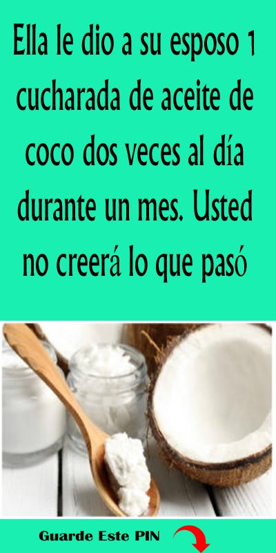 comer dos cucharadas de aceite de coco
