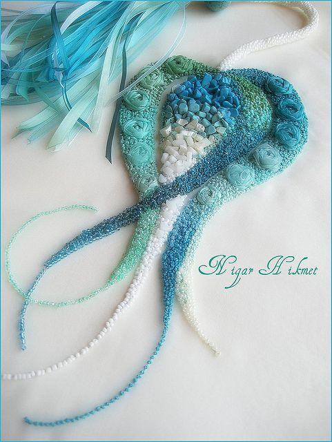 ♥ Exquisite bead-work by Nigar Hikmet: