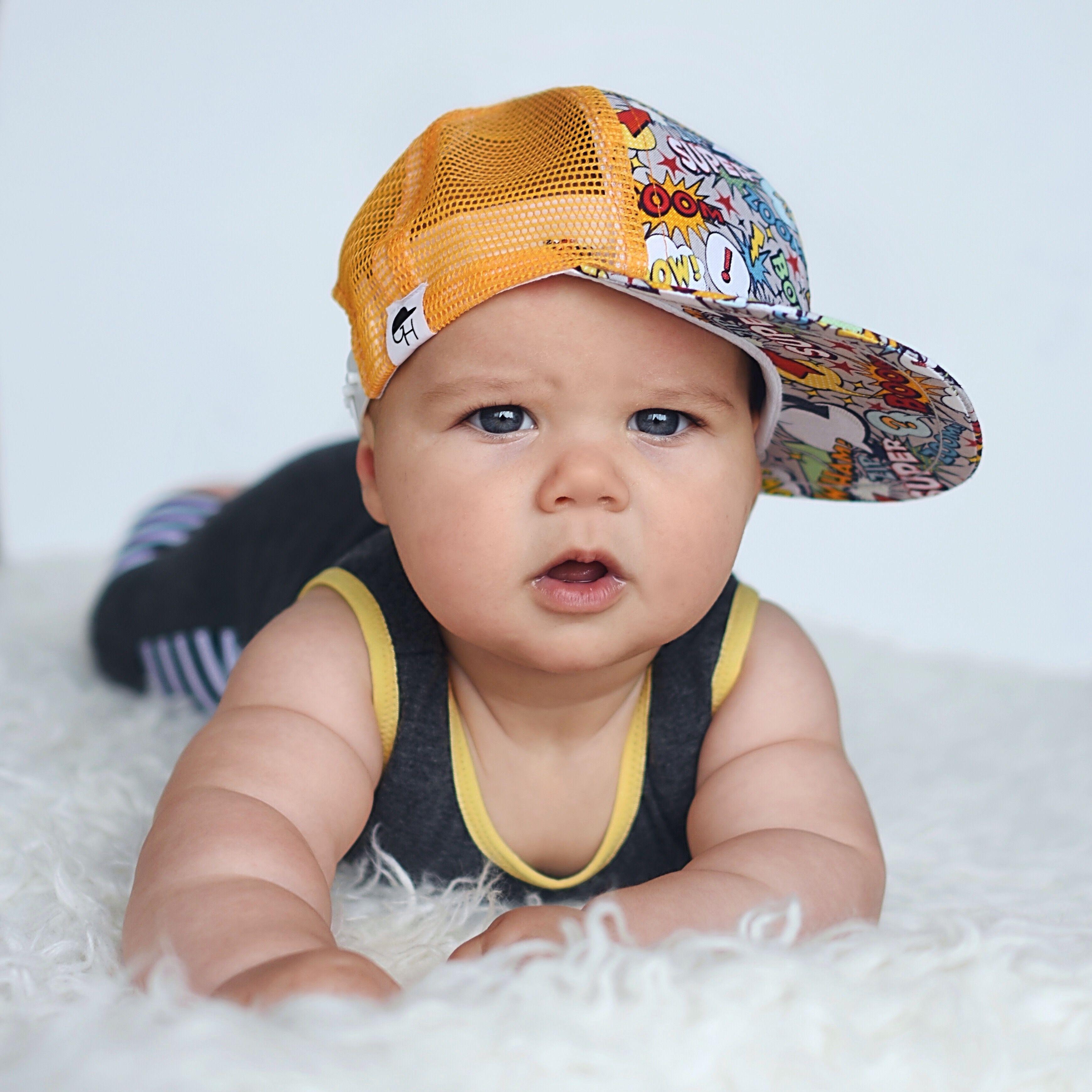 Comic Trucker George Hats George Hats Baby Boy Fashion Baby Sun Hat