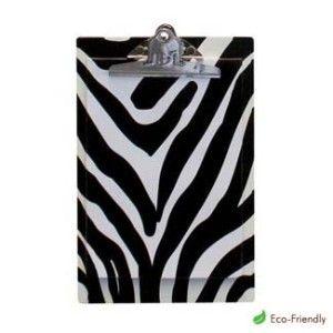 ZEBRA OFFICE SUPPLIES | Zebra Clipboard Animal Print Office.