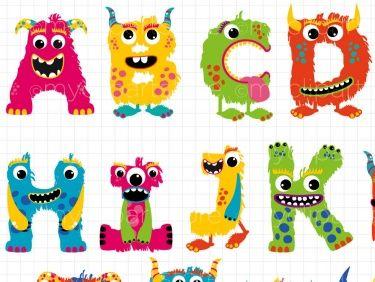 Alpha - Fluffy Monster Alphabet (ABC) | monster | Alphabet ...