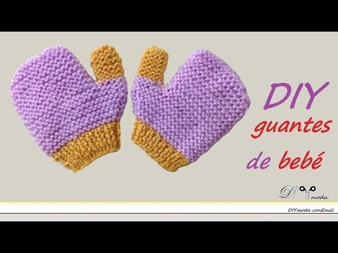 Teje mitones o manoplas para bebé con dos agujas - YouTube | Videos ...