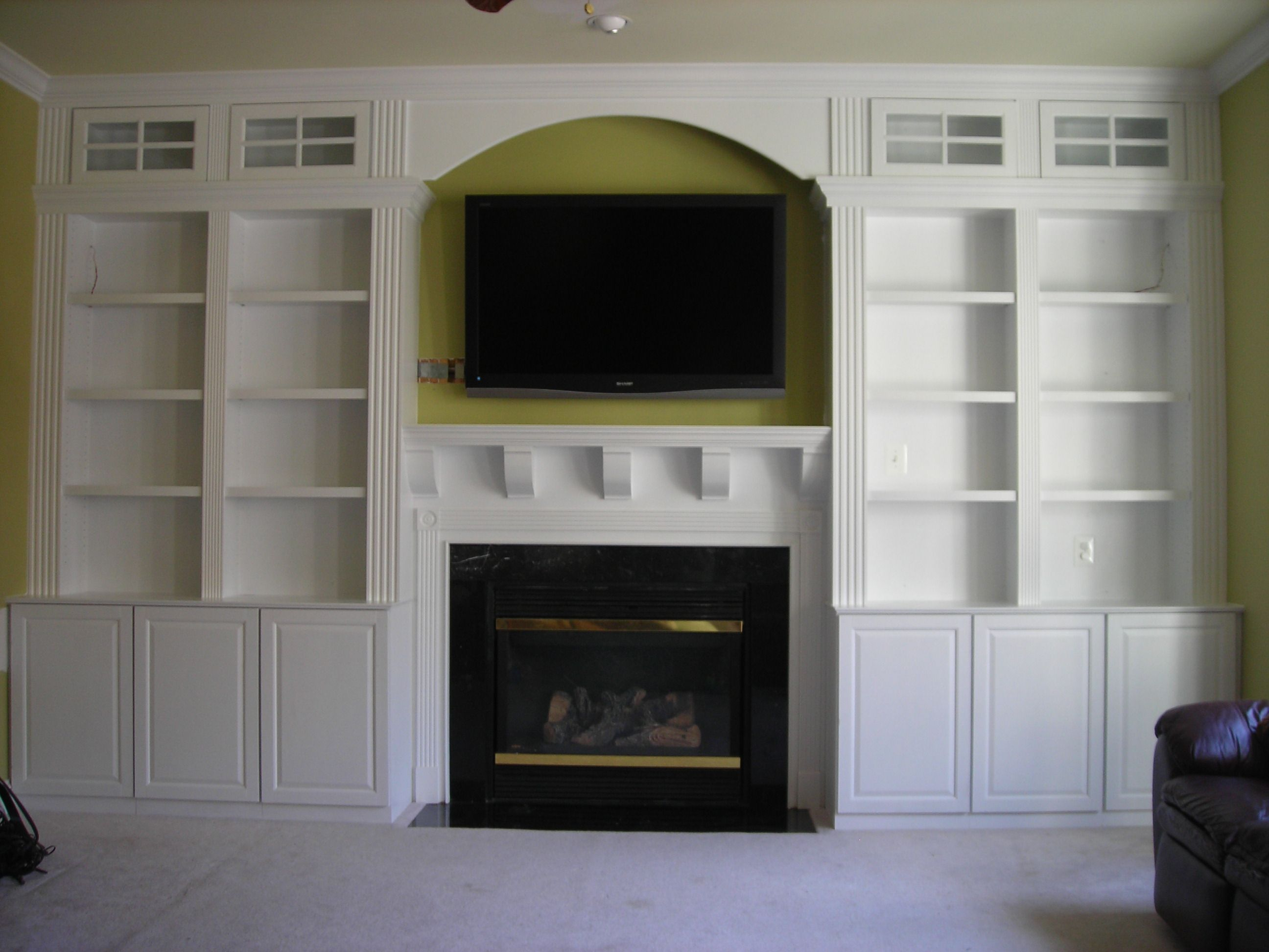Built In Bookcases Fireplace Furniture Darraghs Pics 109