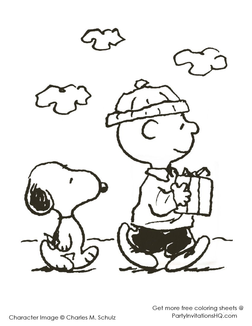 charlie brown christmas coloring pages | charlie-brown-christmas ...