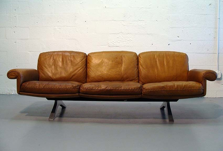 Best Beautiful Mid Century Modern Cognac Brown Leather De Sede 640 x 480