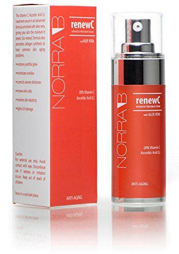 renewC™ - Advanced Treatment Serum - Luxury skin care formula enriched with Aloe Vera, Vitamin C 20, Vitamin E, Hyaluronic Acid, Ascorbic Acid. The Best Anti Aging Face Serum that works! - 1 oz Norra B. http://www.amazon.com/dp/B00WYWR8O8/ref=cm_sw_r_pi_dp_xtyOvb14H2H2C
