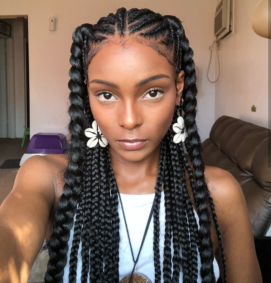 50 African Hair Braiding Styles Ideas For Extra Inspiration Thrivenaija In 2020 African Braids Hairstyles Hair Styles Natural Hair Styles