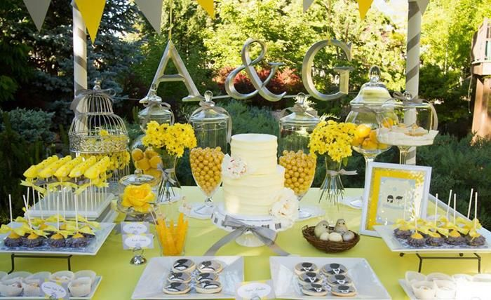 Yellow grey gray garden wedding dessert table supplies ideas party yellow grey gray garden wedding dessert table supplies ideas party wedding decoration ideas yellow and gray junglespirit
