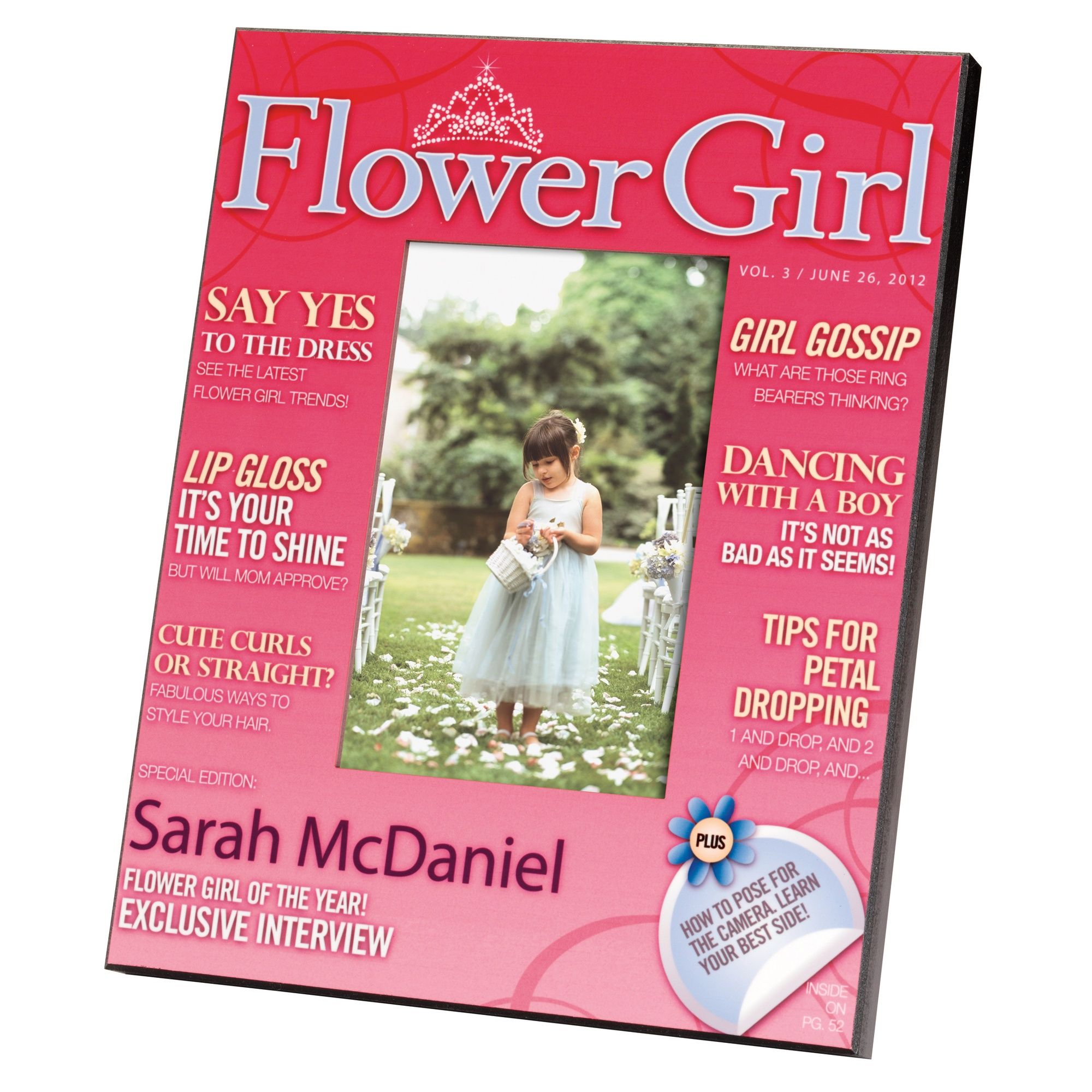 Flower Girl Magazine Cover Frame | #exclusivelyweddings ...