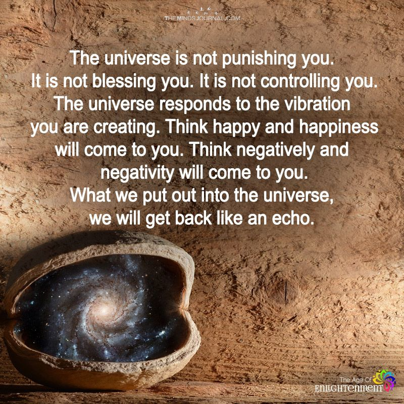 The Universe Is Not Punishing You