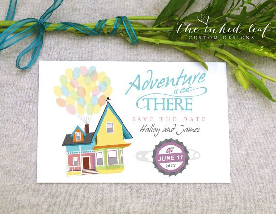 Up Themed Save The Date Card