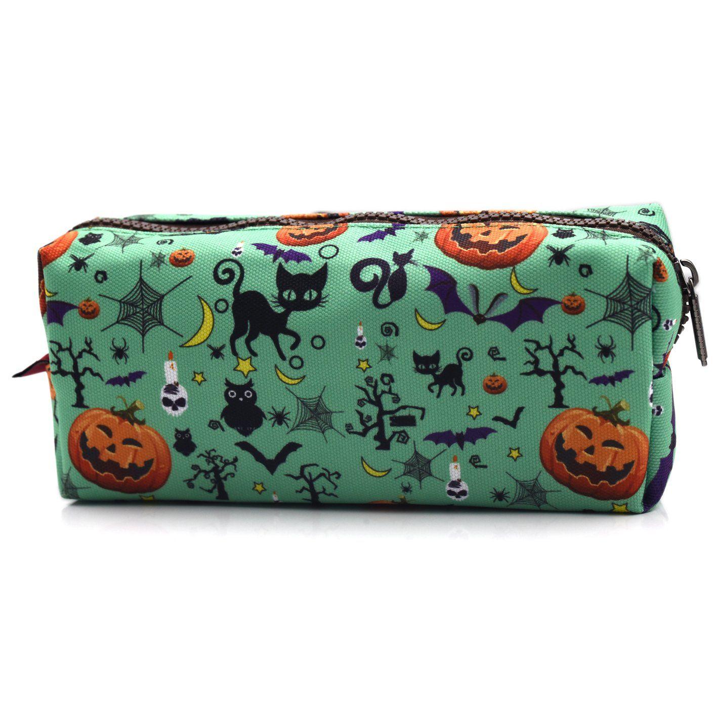LParkin Halloween Students Canvas Pencil Case Pen Bag