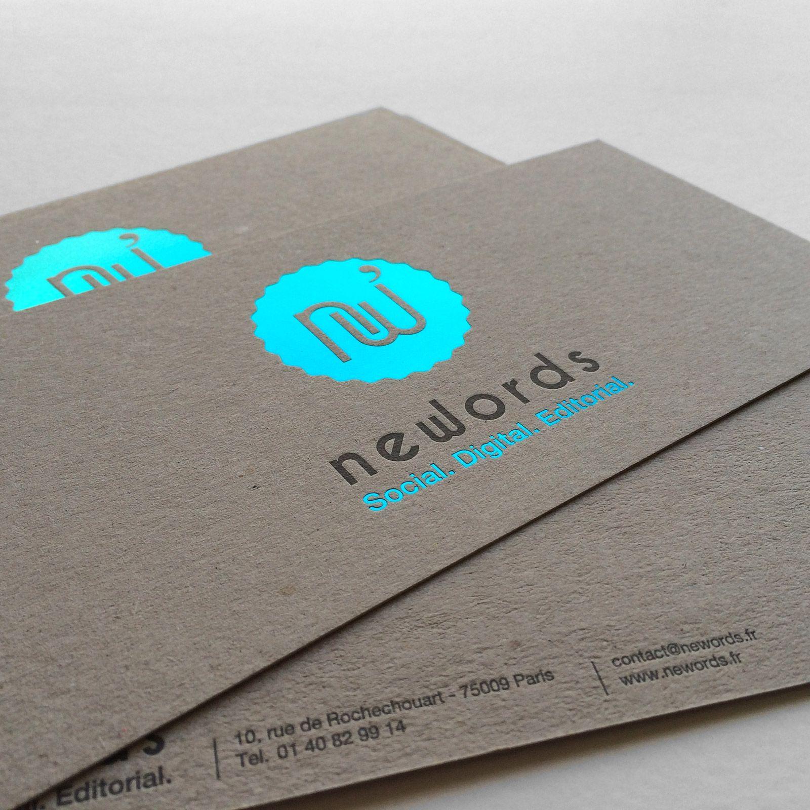 Print Badcass Design Newords Carte De Correspondance En