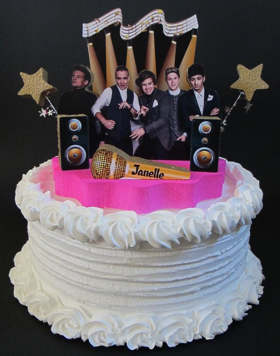 One Direction Cake Topper 3D 1D Birthday By DesignsByKeiko On Etsy 4000