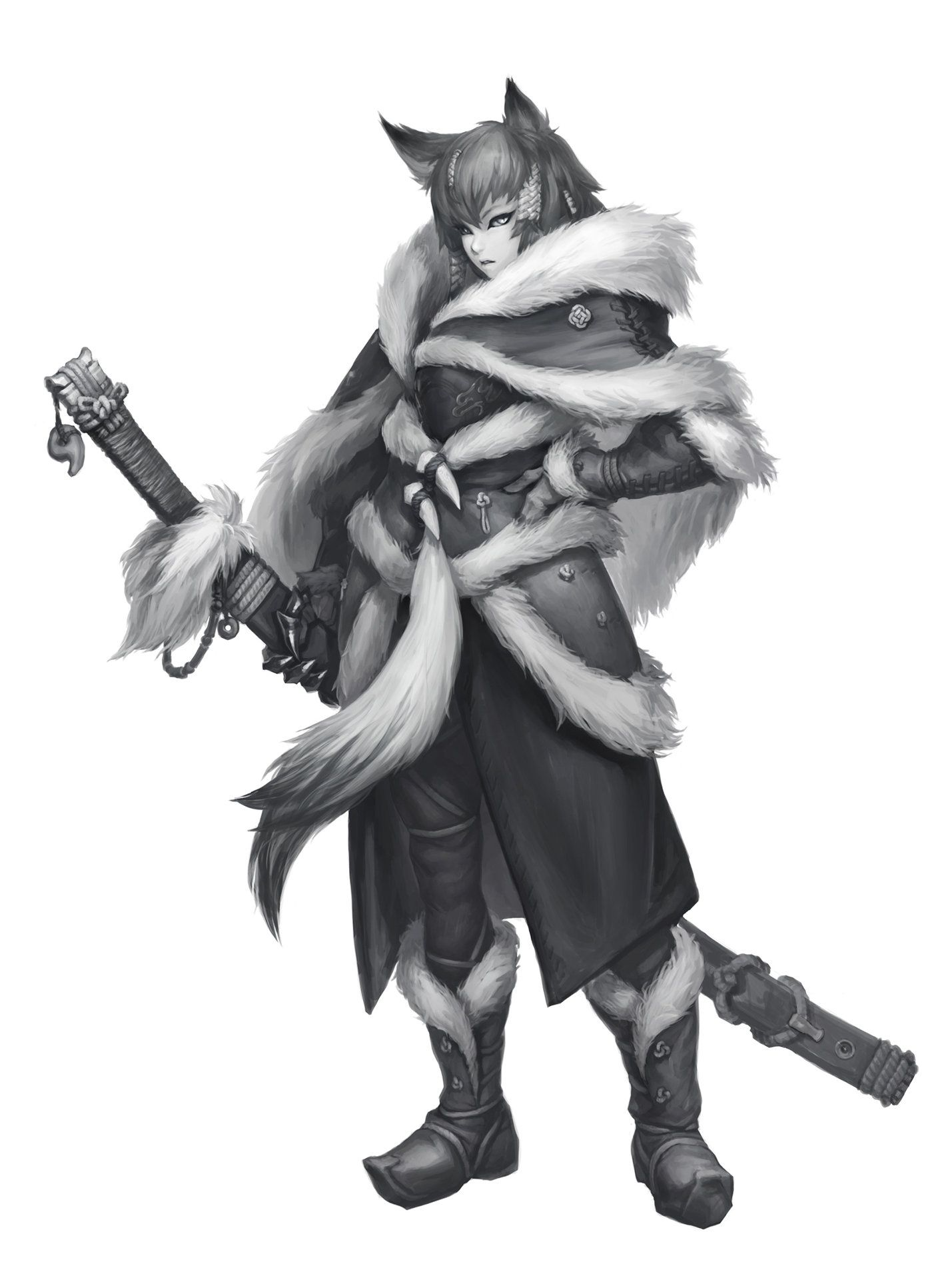 ArtStation Werewolf Princess, Kyeong Jung Cute anime