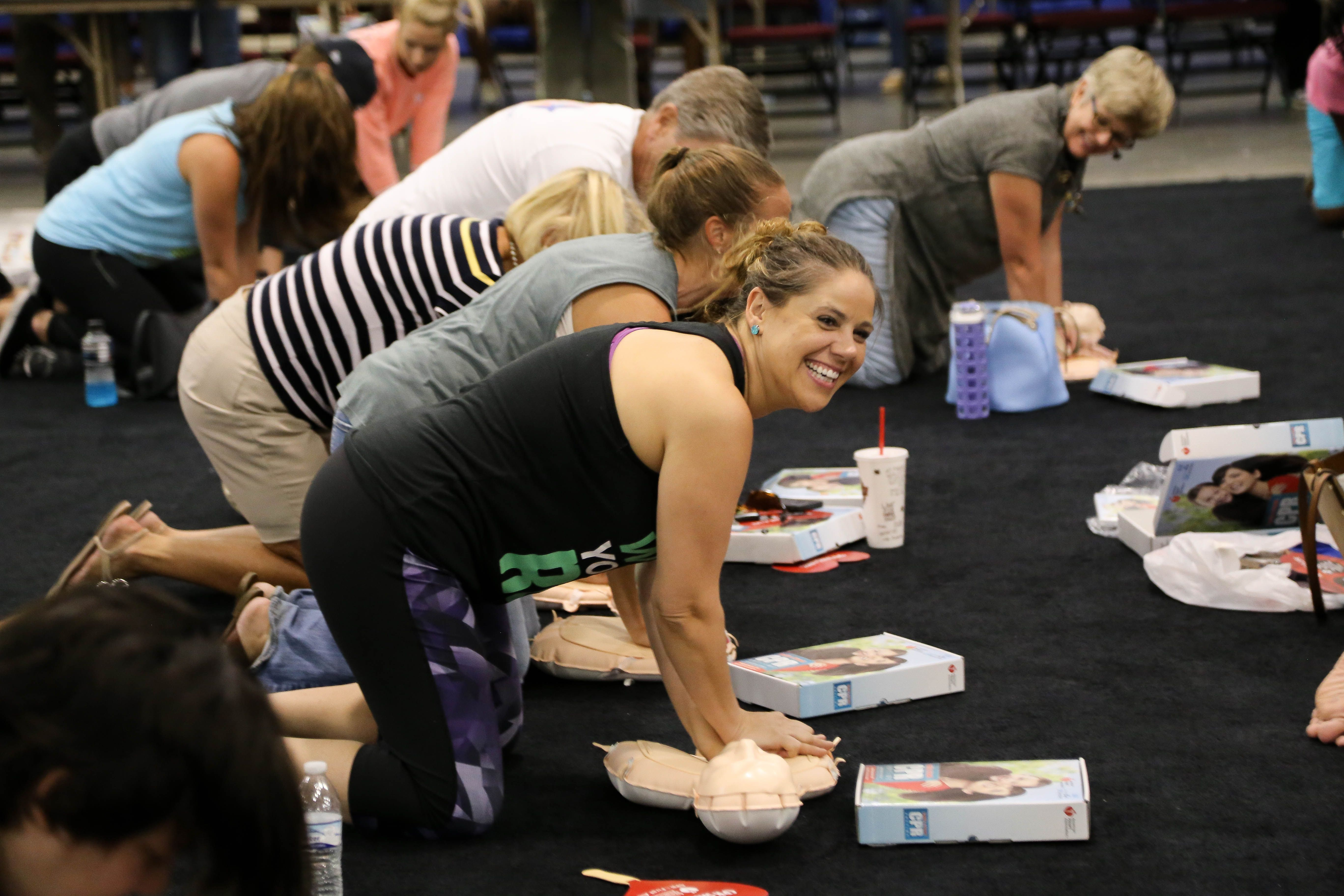 Citizens getting free CPR training as apart of our Citizen