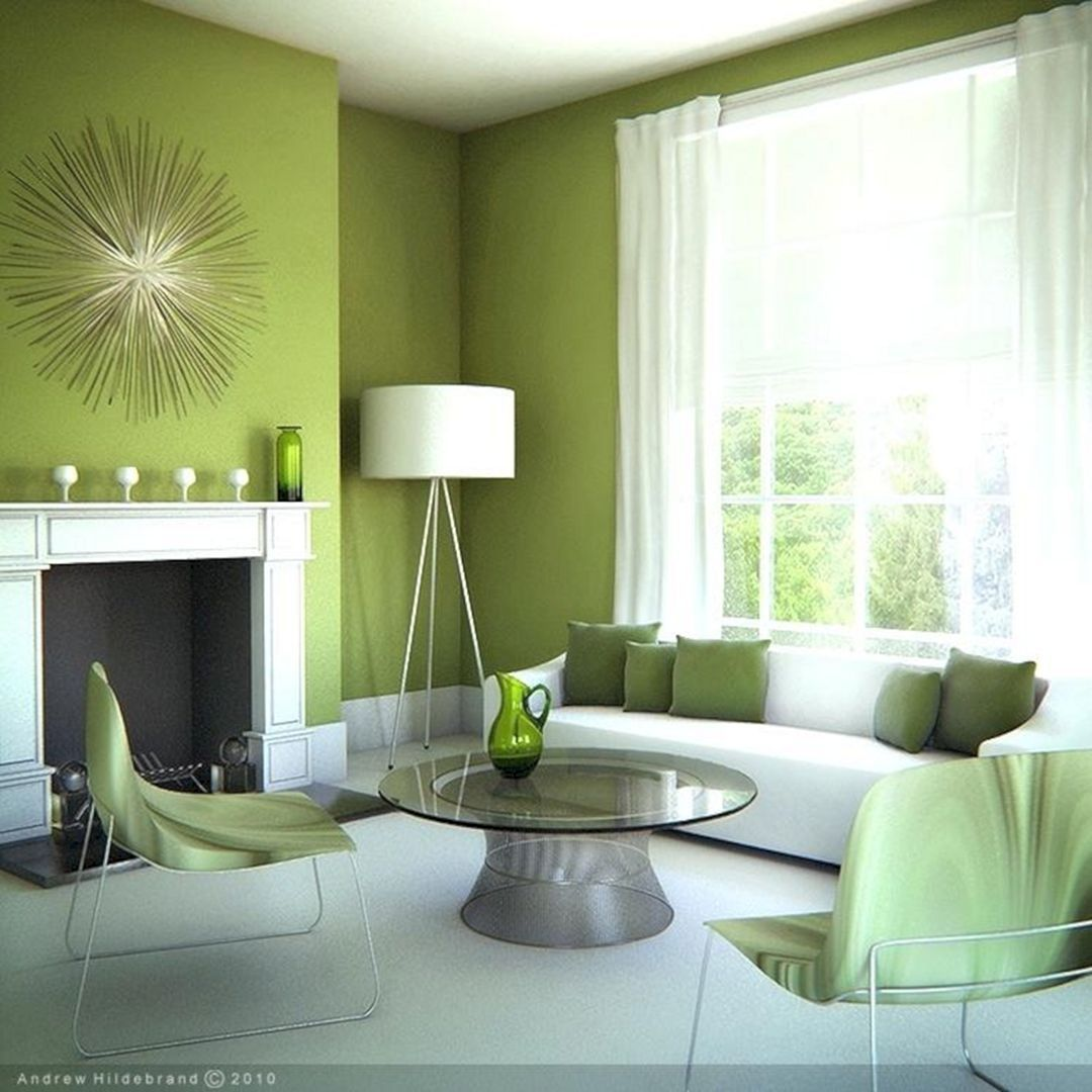 10 Awesome Living Room Green Paint Color Ideas That Look More