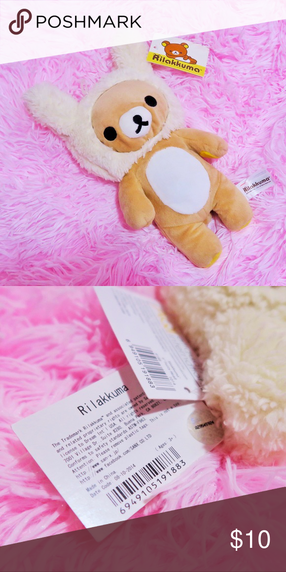 "Rilakkuma Bunny Plush 10"" Authentic Rilakkuma Bunny Plush. Brand new with tags. All items come from a smoke free, pet friendly home Other #bunnyplush"