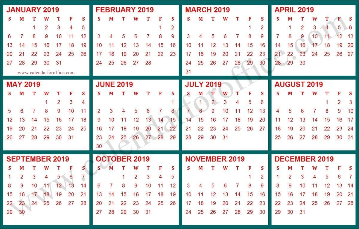 2019 Year Calendar Bangla Printable Template Calendar Template